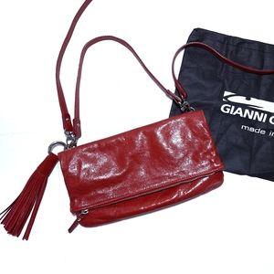 Gianni Chiarini Red Leather Crossbody Bag Purse